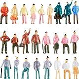 Gejoy 100 Stücke Menschen Figuren Modell Züge Architektur Plastik Menschen Figuren Winzige...