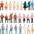 100 Pieces People Figurines 1:75 Scale Model Trains…