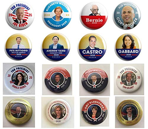 Presidential Election Historical Center 2020 Democrat Candidates Collectors Set - Set of 16-2.25 inches