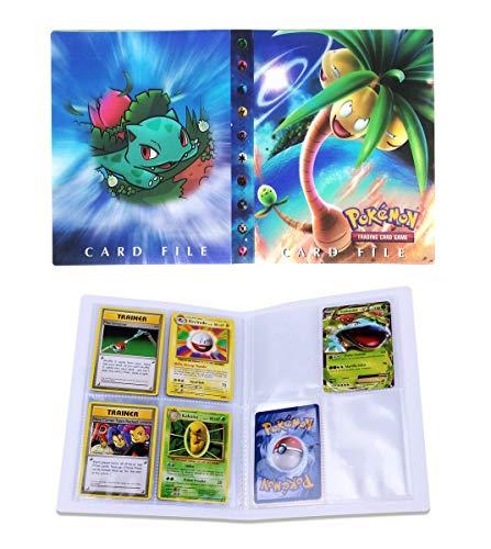 Dorara Sammelkarten Album, Album für Pokemon Karten GX und EX, Spielkarte Album Binder, Hält 120 Karten einzeln oder 240 doppelt (Exeggutor)