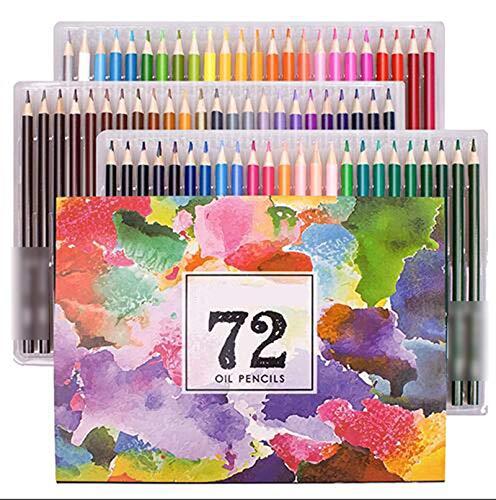 Lapices Colores Yuan Ou 48/72/120/160/180 colores juego de lápices de colores al óleo profesionales para dibujo escolar suministros de arte para bocetos 72 colores al óleo