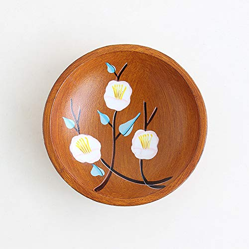 Wooden Dinner Plate, 6-Inch Round Creative Candy Plate, Easy To Clean, Light Weight, Can Be Used For Fruits, Snacks, Desserts,-The Best Christmas Gift