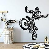 wZUN Motocicleta de Dibujos Animados Tatuajes de Pared Sala de Estar Dormitorio Dormitorio Decoración de Pared Art Deco 36x42cm