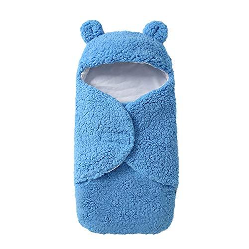 NFSQYDT Saco de Dormir, para Bebé, para Recién Nacidos, Niños y Niñas, Cálido y Transpirable Manta de Recepción, Adecuada para 0 a 6 Meses Blue Legless-0 To 3 Months