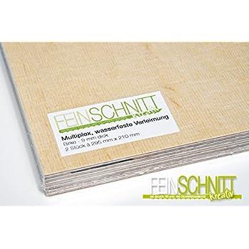Breite 15 cm, L/änge 35 cm 9mm Multiplex Zuschnitt Siebdruckplatten Multiplexplatten Zuschnitte Melaminbeschichtet Birke Bodenplatte Holz Braun Grau
