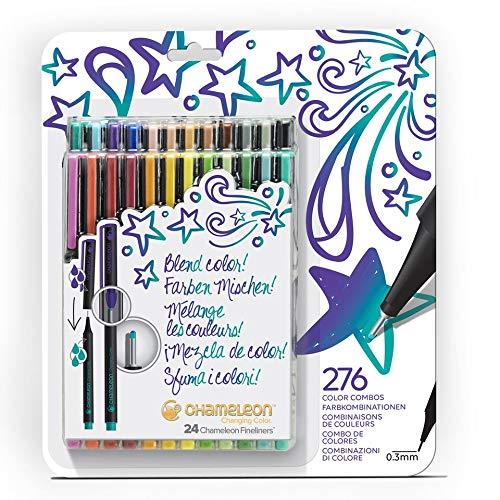 Chameleon Fineliners Colores vivos - Juego de 24