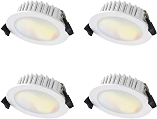 WiZ-Atom AT4010/WH/WIZ/TR-4 Smart Tunable Colours LED Downlight- 10W- 815lm 90mm cutout- Pack of 4- 2200k~5500k- WiFi- No ...