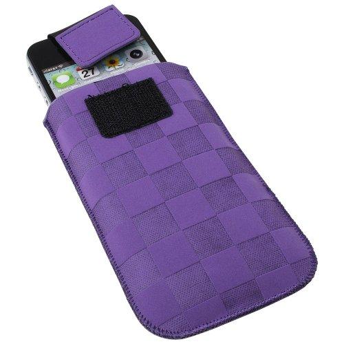 XiRRiX Vertikal Tasche Hülle Hülle Handy Tasche mit Ausziehhilfe purple für Lumigon T2