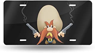 MELISSI Oui-A Metal Funny Looney Tunes Yosemite Sam License Plate Car Accessories 6