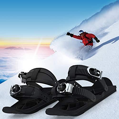 ZCFXGHH Mini-Skischuhe, Universalgröße für die meisten Erwachsenen, Kombinieren Sie Skates mit Skiern, Outdoor-Ski-Schlitten-Snowboard, Mini-Skates für Schnee Die Short Skiboard Snowblades