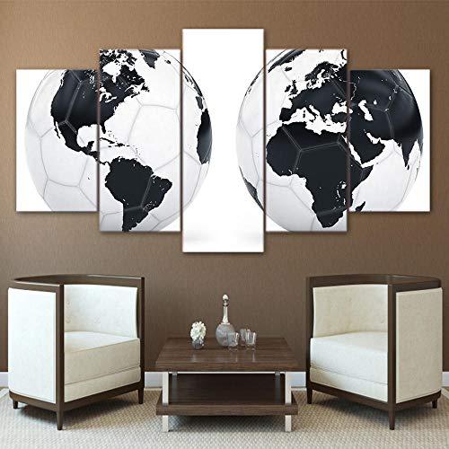 eternity-Hauptdekoration Moderne Bild Hd Leinwand Poster Wandkunst 5 Stücke Sport Fußball Wohnzimmer Drucken