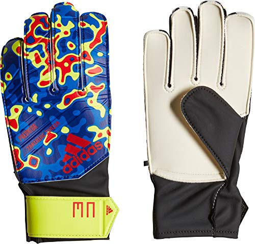 adidas Kinder Predator Manuel Neuer Torwarthandschuhe, Solar Yellow/Football Blue/Active Red, 7.5