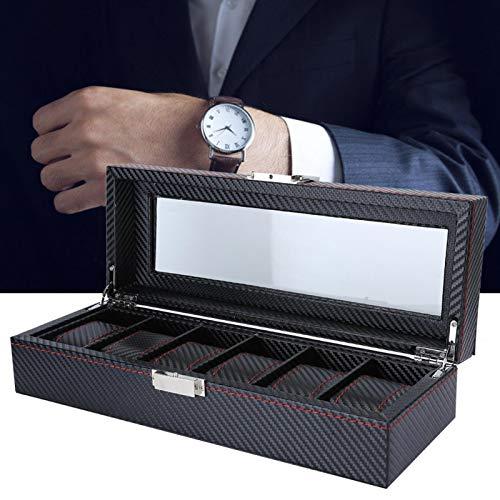 Caja de reloj, caja de reloj, organizador de caja de reloj, joyería de almacenamiento de joyería para pulsera de reloj de pendiente