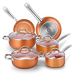 professional Non-stick cookware set, CUSINAID aluminum cookware set 10 piece set Pot and frying pan, frying pan, sauce …