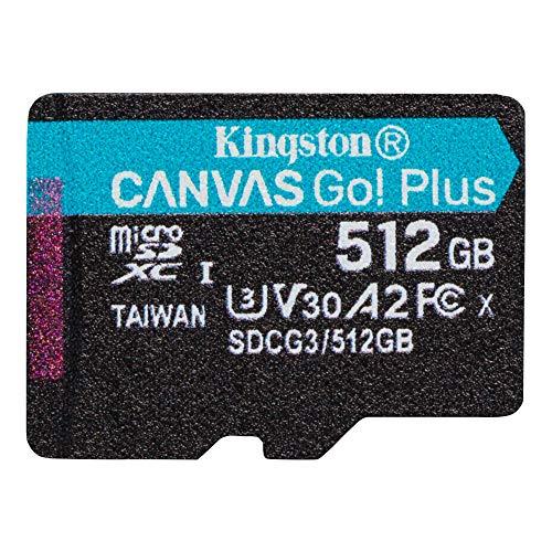 キングストン microSD 512GB 170MB/s UHS-I U3 V30 A2 Nintendo Switch動作確認済 Canvas Go! Plus SDCG3/512GB