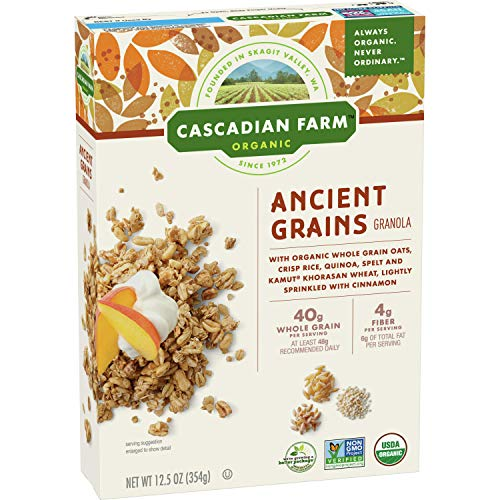 Cascadian Farm Organic Ancient Grains Granola Whole Grain Oats, 12.5 oz