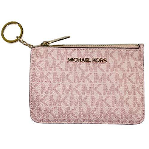 Michael Kors Jet Set Travel Small Top Zip Coin Pouch ID Card Case Wallet (Ballet Pink 2020)
