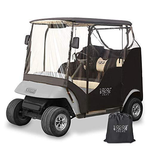 10L0L Golf Cart Enclosures Cover for 2 Passenger EZGO TXT Waterproof Transparent 4-Sided Window