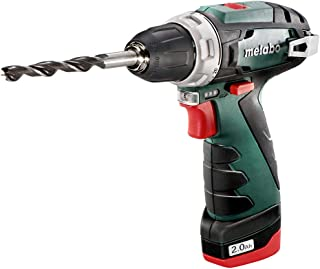 Metabo 12 Volt Cordless Drill Screwdriver Power-Maxx BS 2 x Batteries + Charger