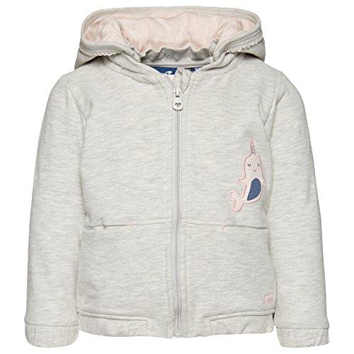 TOM TAILOR TOM TAILOR Kids Baby-Mädchen Detachable Hood Sweatjacket Kapuzenpullover, Grau (Greyish beige Melange 8353), 68