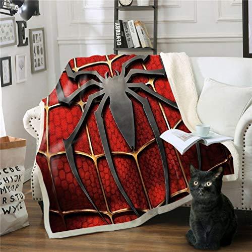 DFTY Marvel Spiderman Decke, Anime, Cartoon, digitaler 3D-Druck, Kinderdecke für Zelten, Picknicks, Büro und Wanderungen, Mikrofaser, 4, 150*200CM