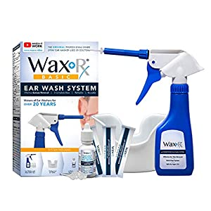 PROFESSIONAL EAR CLEANING AT HOME - Invented by a physician, the Wax-Rx pH Conditioned Ear Wash System was designed to provide professional level ear wax removal for easy to use in-home usage. ELIMINATE EAR WAX - Ear wax buildup and blockage can caus...