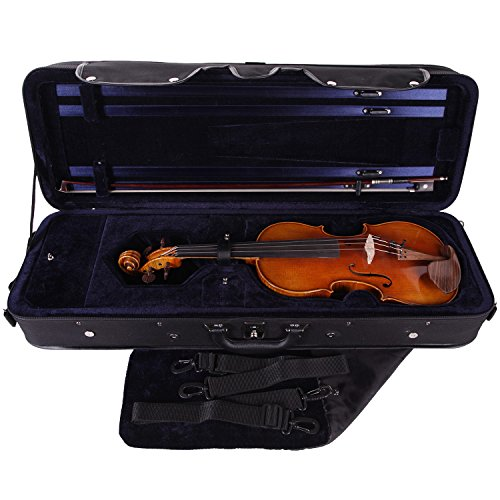 PACATO Livorno Violinetui 4/4 schwarz/blau
