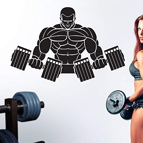 yaonuli Fitness Aufkleber Fitness Hantel Aufkleber Vinyl Wandaufkleber Fitness Übung zu Finden Aufkleber 85X175cm