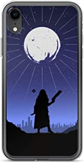 iPhone XR Case Anti-Scratch Gamer Video Game Transparent Cases Cover Destiny Silhouette Art Hunter Gaming Computer Crystal Clear