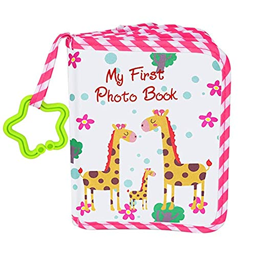 Baby's My First Photo Book,Baby Photo Album Soft Photo Cloth Book Gift Set for Newborn Toddler & Kids (Pink)