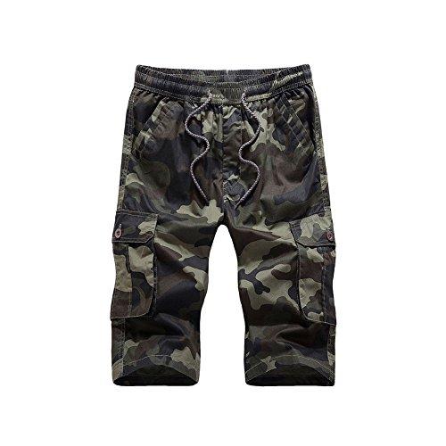 Meijunter Maillot de Bain Natation Homme Boxer avec Cordon Poche Pantalon Court de Sport Piscine Slim Fit Plage Surf Trunk Shorts Swimwear Camouflage