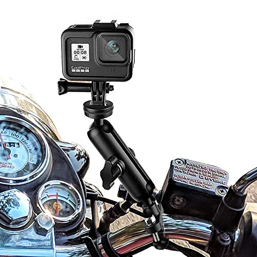 Camera Motorcycle Mount for Gopro Accessories ,360 Rotation Metal Action Camera Clamp Holder with...