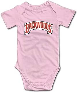Backwood Newborn Bodysuits Short Sleeves Baby Boys Girls Jersey Baby Onesies White