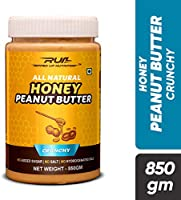 Ripped Up Nutrition Natural Honey Peanut Butter (Crunchy) (850 Gram)