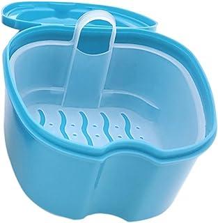 SUPVOX Boîte à Dentier avec Panier Boîte de Rangement Appareil Dentaire Bleu pour Protège Dents Bleu Clair
