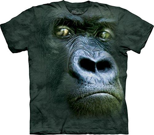 The Mountain T-Shirt Portrait Silverback pour Fille Moyen Charbon
