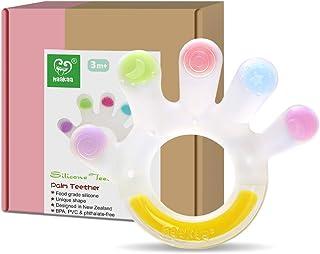 Jouets de Dentition pour Bébés 3 Mois + Haakaa Anneaux Dentition en 100% Silicone Sans BPA - Meilleurs cadeaux - Apparence...