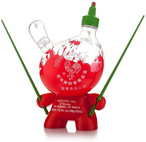 Kidrobot Sketracha 8-inch Dunny Figure Sket One Sriracha Empty Clear Version by Kidrobot