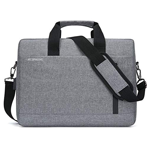 15.6-inch laptoptas Notebook Tablet Bag mannen grote capaciteit Business one-Shoulder Aktetas, 40 × 30 × 10cm, USB opwaarderen Grijs