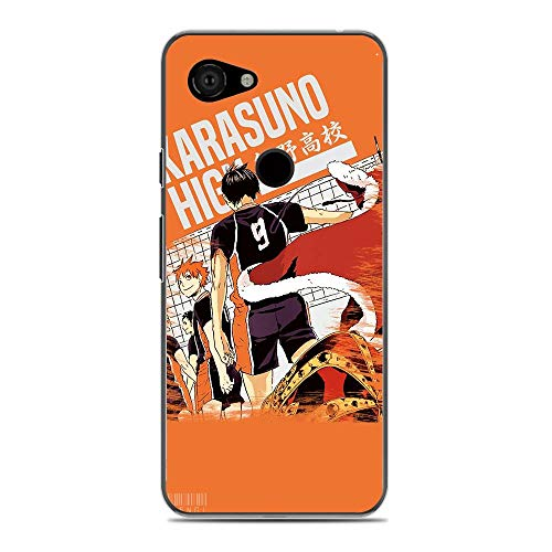 KeepAAA Transparent Anti-Scratch Anti-Yellowing TPU Cover Soft Case for Google Pixel 3A XL(3XL Lite)-Anime-Haikyuu Love Volleyball 3
