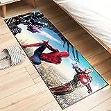 Meinianda Alfombra Infantil Anime Spider-Man 3D Dibujos Animados Vengadores Marvel niños niñas habitación de los niños Dormitorio Alfombra Moderna Corredor 60 * 180 cm