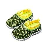 DEBAIJIA Zapatos para Niños 1-4T Bebés Caminan Zapatillas Suela Suave Malla Antideslizante Material Transpirable 27/28 EU Verde (Tamaño Etiqueta 29)