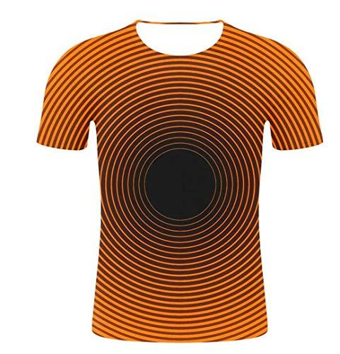 Herren 3D T-Shirts Kombination aus geometrischen Formen 3D-Druck Herren T-Shirt Unisex Lustige T-Shirts mit kurzen Ärmeln Herren/Damen Oberteile Army Green XXXL