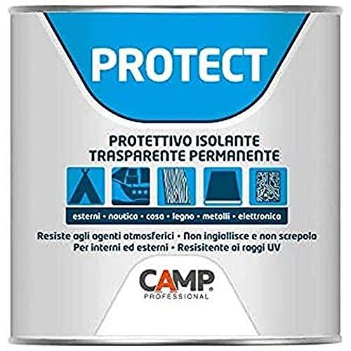 Camp PROTECT, Protettivo isolante trasparente, plastificante, anti-ossidante e impermeabilizzante, Per plastica, legno, ceramica e metalli