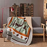 Soul & Lane Moose in The Wild Cabin Lodge Lap Quilt (50' x 60') | Country Bedding Quilted Throw Blanket