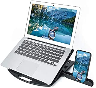 LZSCOMPUTER General-Purpose Increased Heat Dissipation for Laptops Holder, Style: with Mobile Phone Holder
