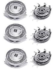3 Paquete SH50 Cabezales de Afeitado, Cuchillas de Repuesto Cabezal de Afeitar por Philips Eléctrica S5000 Series