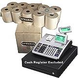 EPOSBITS® Rollos de marca para caja registradora Casio SE-S400 SES400 SES SE S S400 400 – 20 rollos