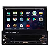 EinCar Android 10.0 Single Din Car MP5 Player 7inch GPS Navigation System 1 Din Car Radio Capacitive Muti-Touch Screen Bluetooth 1Din Stereo Support Mirror Link FM AM RDS WiFi 4G SWC USB SD CAM-in