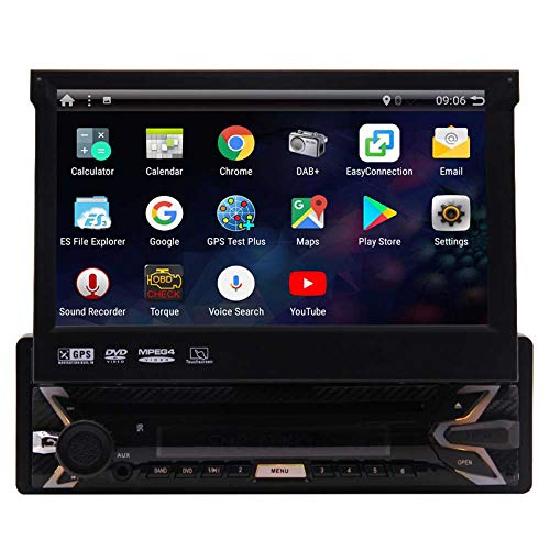 Android 9.0 Quad-Core 1 Din Autoradio 7inch TFT kapazitive Touch Screen 1024 x 600p GPS Stereo-Navigationssystem AM FM Radio 1 GB 16 GB-Empf?nger RDS Bluetooth Lenkrad-Steuerung Wifi USB SD CAM-IN